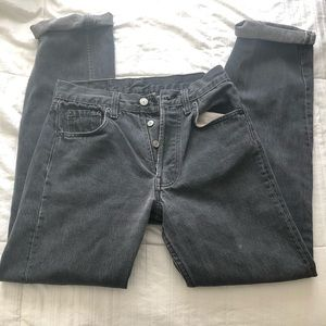 Vintage Levi faded black jeans